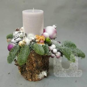 Новогодние композиции со свечой